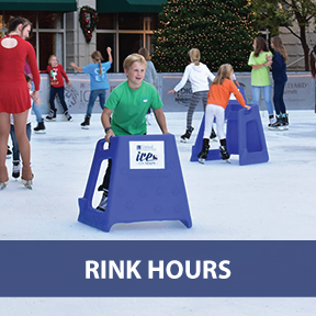 Graphic Text Button: Go to Rink Hours