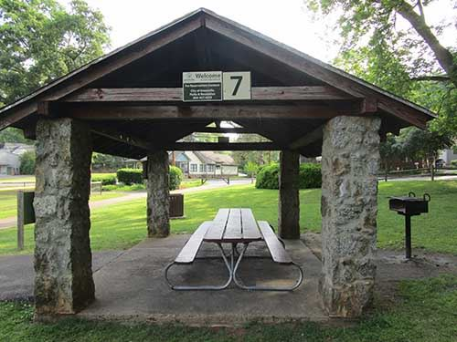 Cleveland shelter 7 next to ballfield